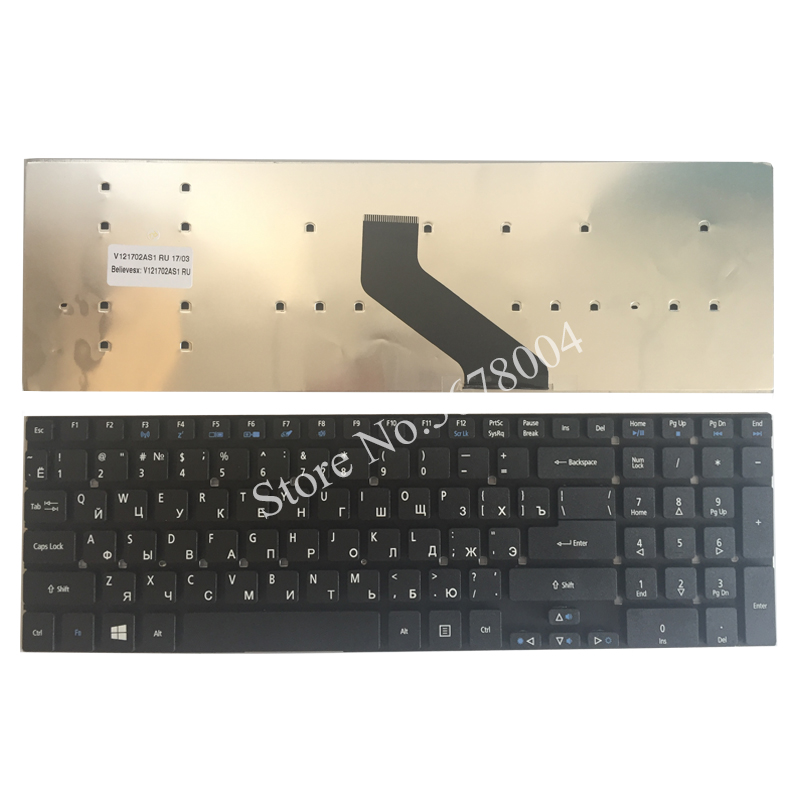 Russian Laptop Keyboard For Acer Aspire V3-531 V3-772 V3-531G E1-570 V5-561 V5-561G E1-570G V3-7710 V3-7710G V3-772G RU Black