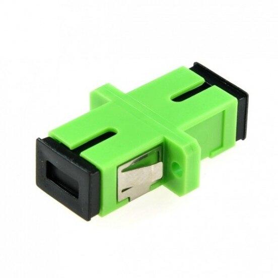 Fiber Optic SC To SC Simplex Optical Coupler Adapter With Flange