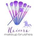 Unicornio de Maquillaje Cepillos 8 unids Fundación Polvo de Sombra de Ojos Profesional Mejor Cepillo Cara Maquillaje Fantasia Nuevas Llegadas 2017