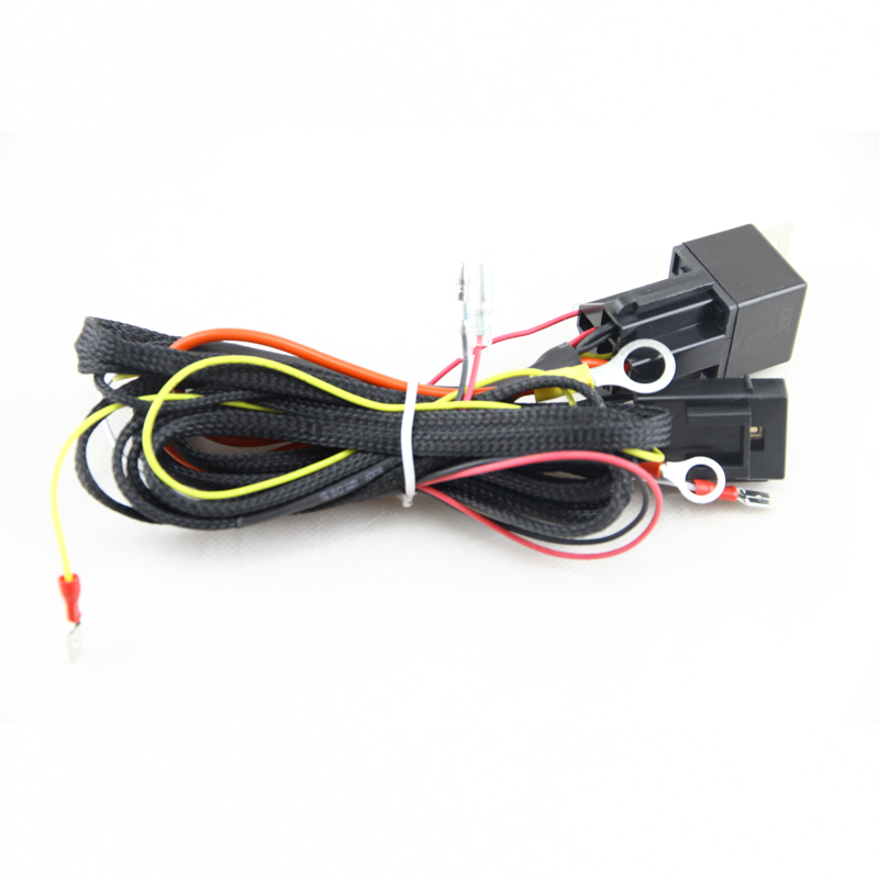 buy wire wiring harness fuse relay switch for smd angel eyes headlight wiring. Black Bedroom Furniture Sets. Home Design Ideas