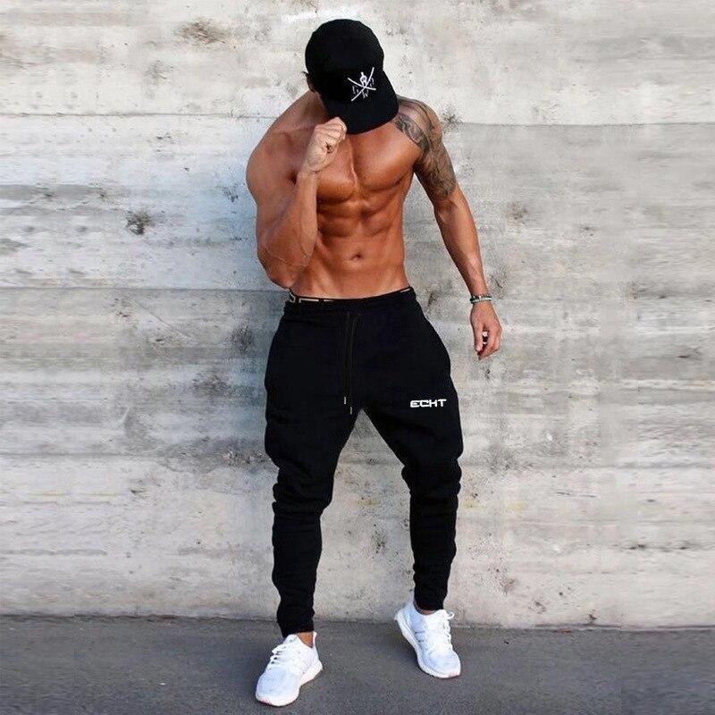 2019 New Men's Sweatpants Man Slim Gyms Fitness Joggers Workout Trousers Male Casual Cotton Pants