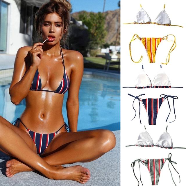 ca502047ee302 Women Swimsuit mikro bikini biquini set Push Up Padded Swimwear Bikini Set  Bathing Suits Swim Wear dropshipping