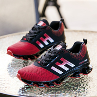 Breathable Men Running Shoes Lace Up Mens Trainers Flat Walking Shoes Lithe Comfortable Zapatillas Hombre Basket