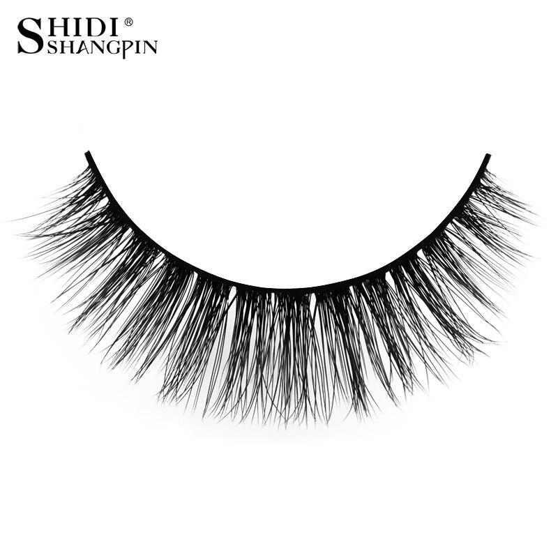 5c69216518a SHIDISHANGPIN 3 pairs false eyelashes natural long 3d mink eyelashes hand  made mink lashes full strip lash makeup false eyelash ...