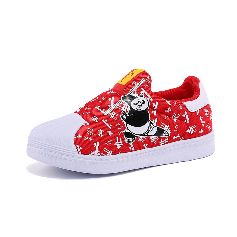 HOBIBEAR KUNG FU PANDA Shoes Kids Girls Sneakers Boys Boarding Shoes Cute Girls Shoes Slip-on Lazy Shoes Special Gift For Child cartoon kung fu panda design sofa pillow case