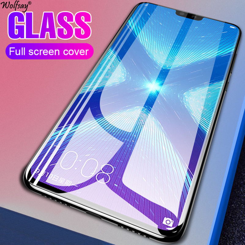 Full Cover Tempered Glass For Huawei Honor 8X Screen Protector Whole Glue Safety Glass For Huawei Honor 8X Phone Glass Honor 8X in Phone Screen Protectors from Cellphones Telecommunications