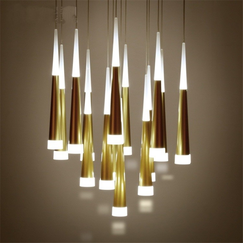 Creative Conical Pendant Lamp Double Staircase Decorative Lamp Dining Room Bar Led Pendant Lamp Aluminum Meteor LED Pendant LampCreative Conical Pendant Lamp Double Staircase Decorative Lamp Dining Room Bar Led Pendant Lamp Aluminum Meteor LED Pendant Lamp