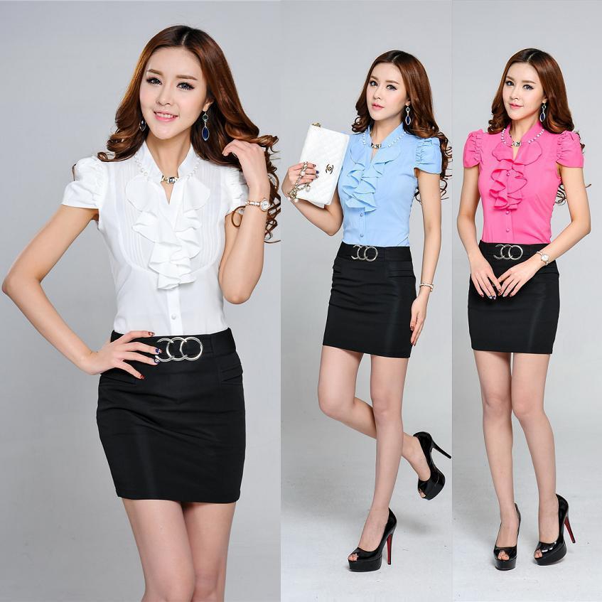 Nuevo 2015 mujeres del verano traje de falda Formal para mujer trajes de  oficina con falda y blusa de moda fijado mujer trajes en Trajes de falda de  Ropa y