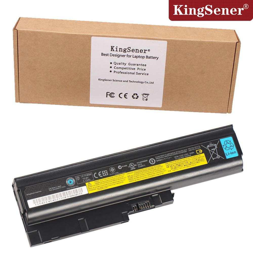 KingSener New Laptop Battery for Lenovo ThinkPad T60 T60P T61 T61P R60 SL300 SL400 SL500 W500 T500 42T4778 42T4545 клавиатура topon top 100450 для lenovo ibm thinkpad sl300 sl400 sl500 black
