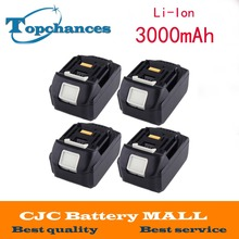 4PCS Rechargeable batteries for Makita BL1830 LXT Lithium Ion 3.0 Ah 3000mAh Battery Power Tool