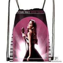 Custom Ariana-Grande Drawstring Backpack Bag Cute Daypack Kids Satchel (Black Back) 31x40cm#180611-03-114