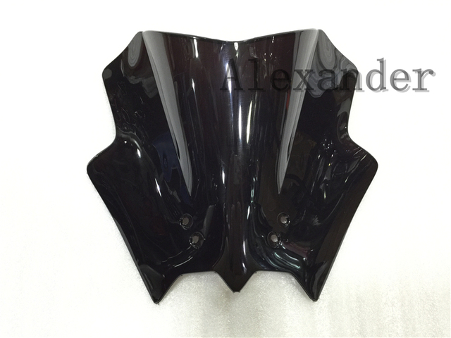 HotSale Freeshipping Windshield WindScreen Double Bubble For KTM DUKE 125 200 390 ktm 125 200 390 Black