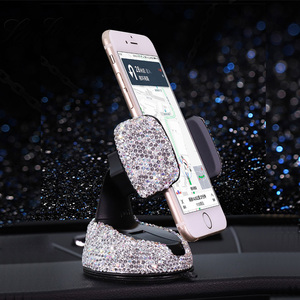 Image 4 - Crystal Rhinestones 360 Degree Car Phone Holder for Car Dashboard Auto Windows and Air Vent Universal Car Mobile Phone Holder