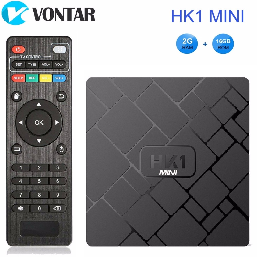 VONTAR 4 K boîtier de smart tv Android 8.1 HK1 mini lecteur multimédia Rockchip RK3229 Quadcore 2 GB/16G H.265 Septembre Top Box HK1MINI pk X96 TX3
