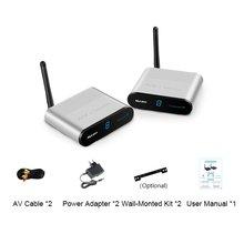 Portable Size AV TV Wireless Audio/Video Sender Transmitter Receiver Plug & Play Wireless Receiver for DVD DVR CCTV Camera