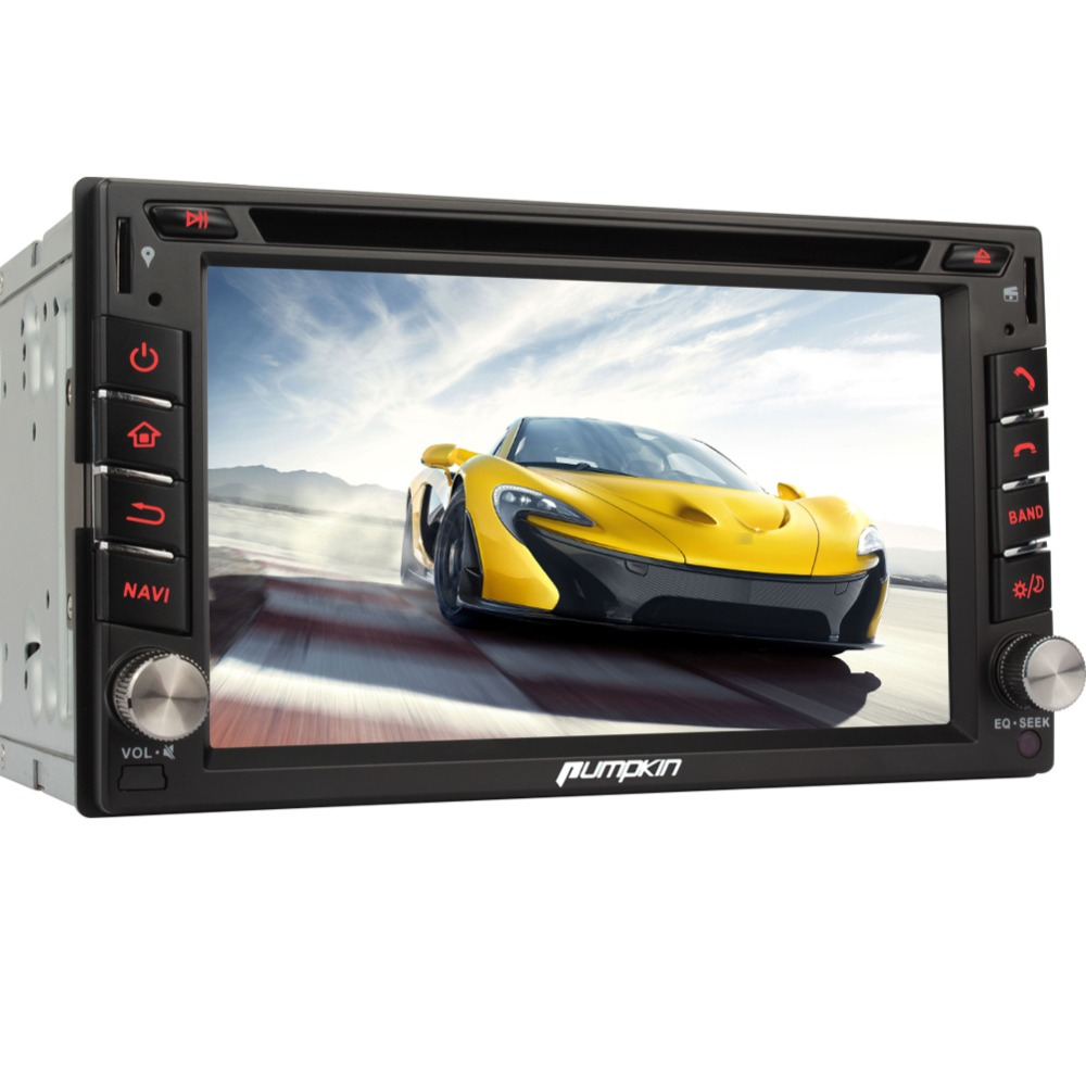 Pumpkin 6 2 inch touchscreen 2 din universal car dvd player auto radio built in usb
