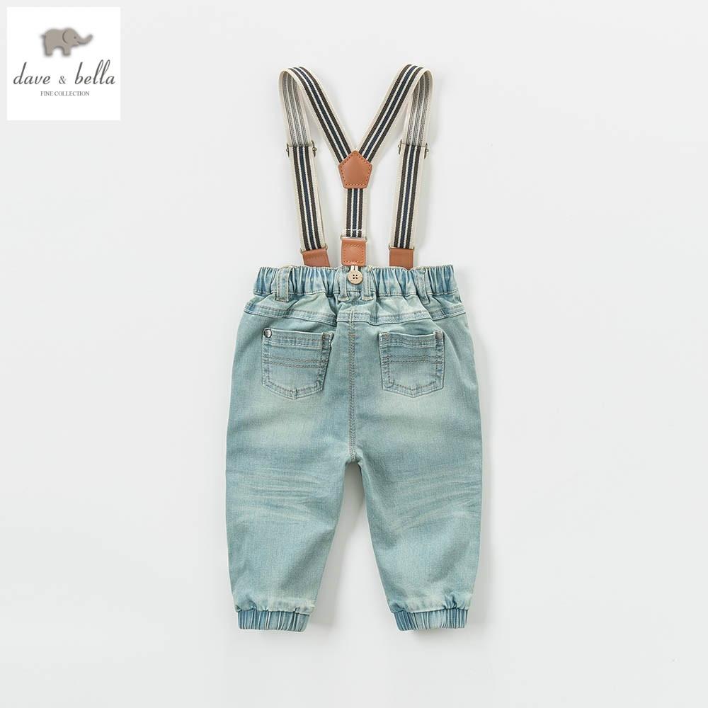 DB4616 dave bella spring baby girls boys pants babi trousers boys  jeans denim blue pants sachin babi повседневные брюки