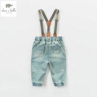 DB4616 dave bella spring baby girls boys pants babi trousers boys jeans denim blue pants