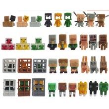 36pcs/lot Funny Characters Hanger Action Figure Toys Cute 3D Minecraft Models Games Collection Toys Gift For Kids #E
