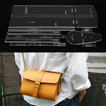 Acrylic Stencil Template Pattern for Lovely Shoulder Bag Soft Leather Craft Pattern DIY Simple Style Bag Stencil Sewing Pattern