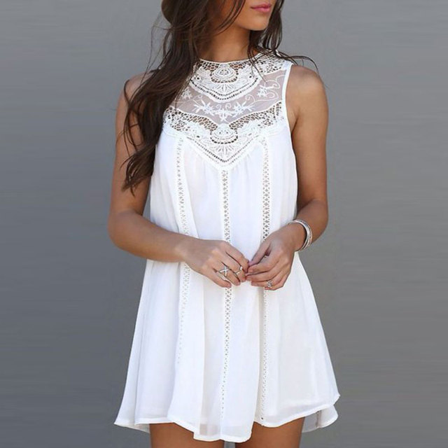 Vestidos de festa dress for women outono dress casual solto charme mangas lace dress o pescoço mini vestidos vestido de verão branco