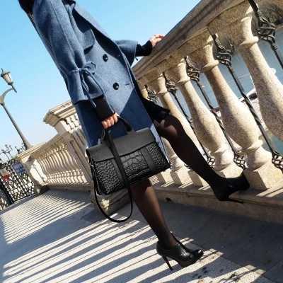 Fashion Alligator Wanita Tas Serpentine Top-Handle Bag Wanita Tas Selempang Kulit PU Berkualitas Tinggi Wanita Messenger Tas