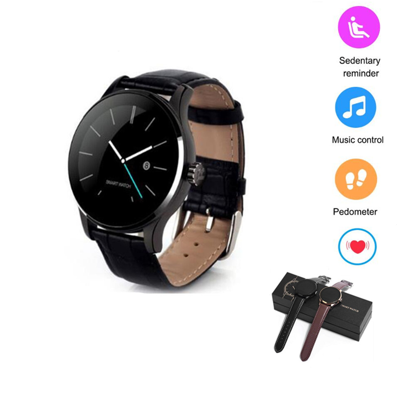 K88H smart electronics smat watch with heart rate monitor fashion smart watch android leather strap smartwatch