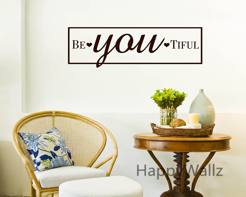 Motivational quote wall sticker creative beautiful inspirational lettering quote wall decals decorating diy custom colors q10
