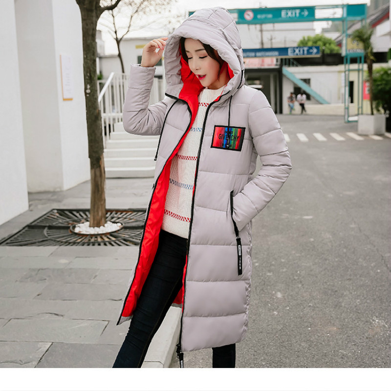 New Winter Fashion 2017 Parkas Hooded Warm Thick Snow Wear Coat Long Cotton Padded Jacket Female Outwears Plus Sizes L-4XL wadded cotton jacket 2017 new winter long parkas hooded slim coat pattern designs thick warm coat plus sizes female outwears