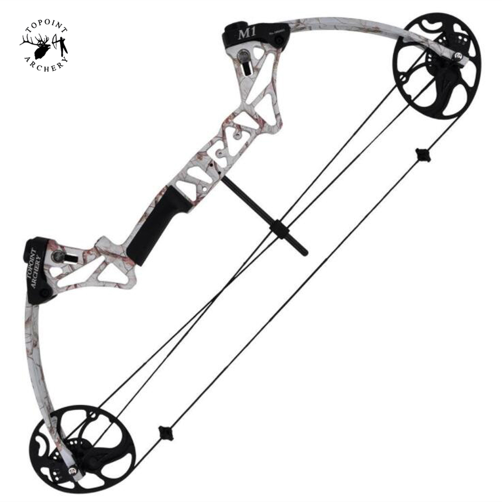 M1 Compound Bow 19 70 Lbs 320 FPS with Straight Pull Pulley Adjustable CNC Wheels for Archery Hunting Shooting