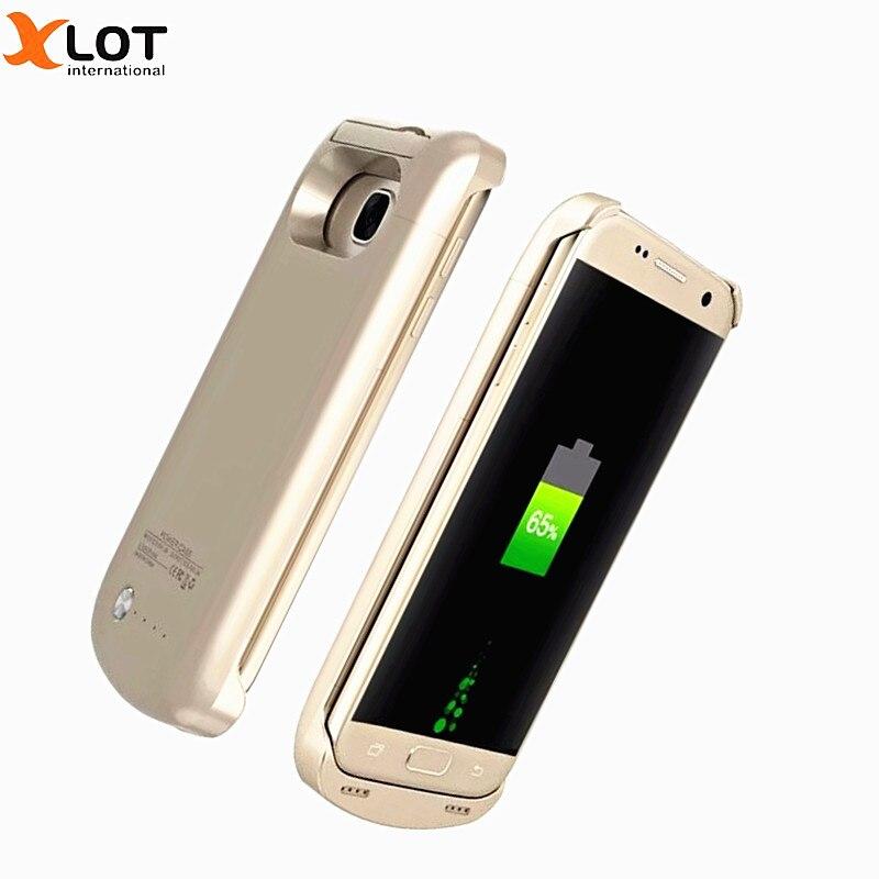 bilder für XLOT Ladegerät Fall Für Samsung galaxy S7 rand Power Fall 5200 mAh Energienbank Externe Batterie-Backup Pack Lade fällen