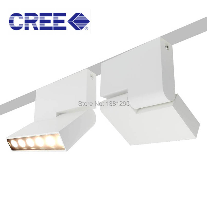 6 W LED Downlights Surface montée Downlight éclairage LED maison Angle réglable 180 degrés tourné plafonnier lumière noir blanc