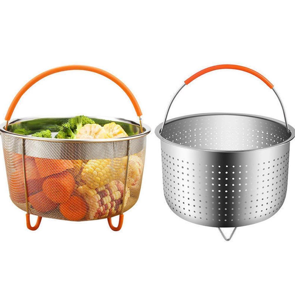 New Kitchen Multifunctional Drain Basket Stainless Steel Steamer Basket Instant Pot Accessories Instant Pot Pressure Cooker