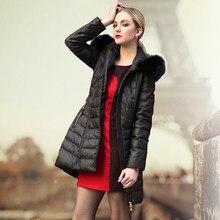 2016 new hot winter Thicken Warm woman Down jacket Coat Parkas Outerwear Slim Hooded fox Fur collar Luxury long plus size 3XXXL