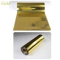 열 50cm80cm 골드 금속 열전달 필름 셔츠 열전달 비닐 PU 소재