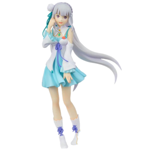 Anime Re:Life in a different world from zero Emilia Sexy PVC Action Figures Collectible Model Toys Doll 20cm anime re life in a different world from