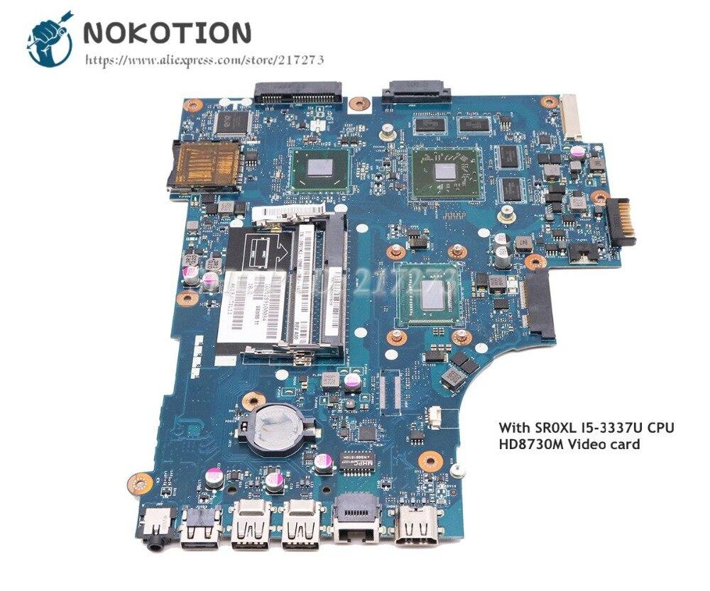 NOKOTION для Dell Inspiron 3521 5521 Материнская плата ноутбука CN 0P14T7 0P14T7 VAW01 LA 9101P SR0XL I5 3337U HD 8730 м GPU