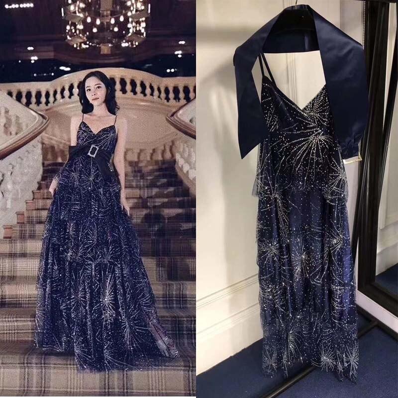 Платье на бретельках, длинное, блестящее, сексуальное, для вечеринок