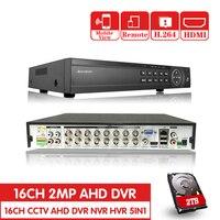 16 канальный AHD DVR 1080 P DVR 16CH AHD AHD H 1920*1080 2.0MP CCTV видео Регистраторы DVR NVR CVI TVI HVR 5 в 1 безопасности Системы