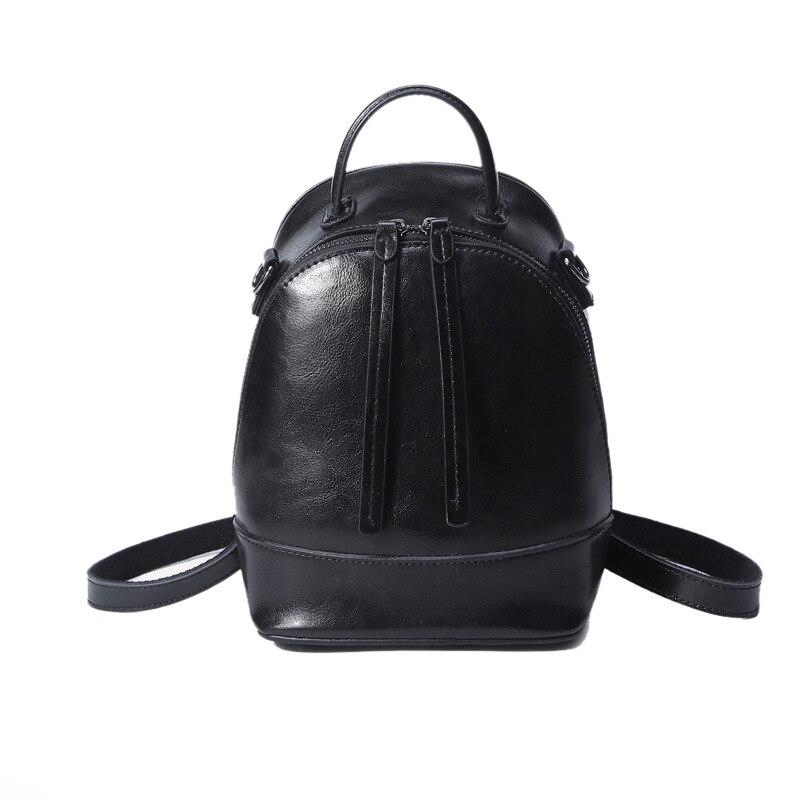 High Quality Cowhide Women Small Backpack Crossbody Shoulder Bag Genuine Leather Luxury Ladies Knapsack Grils Daypack