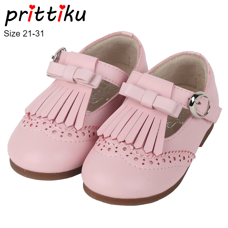Spring 2018 Baby Toddler Girl Ballet Leather Flats Little Kid Bow Tassel Mary Jane Loafers Children Pink Black Buckle Cute ShoesSpring 2018 Baby Toddler Girl Ballet Leather Flats Little Kid Bow Tassel Mary Jane Loafers Children Pink Black Buckle Cute Shoes