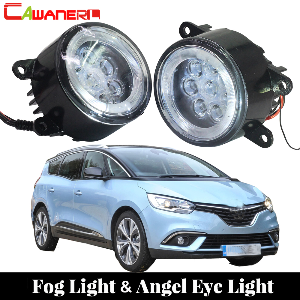 Cawanerl For 2004-2015 Renault Grand Scenic Car Light Source LED Fog Lamp Angel Eye DRL Daytime Running Light 12V Styling car styling 10pcs high brightness drl 23mm eagle eye daytime running light waterproof parking lamp led car work lights source cc