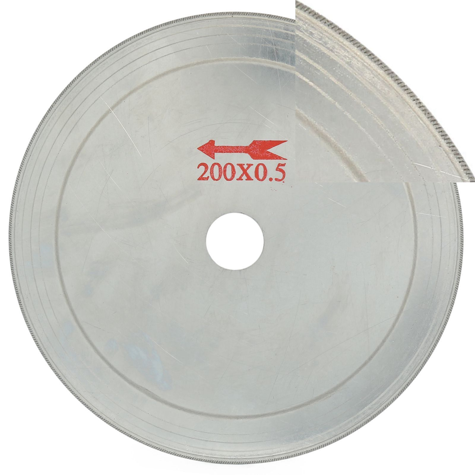"Купить с кэшбэком 5Pcs 8"" inch 200 mm Ultra-thin Diamond Lapidary Saw Blade Cutting Disc 0.65 Rim ILOVETOOL"