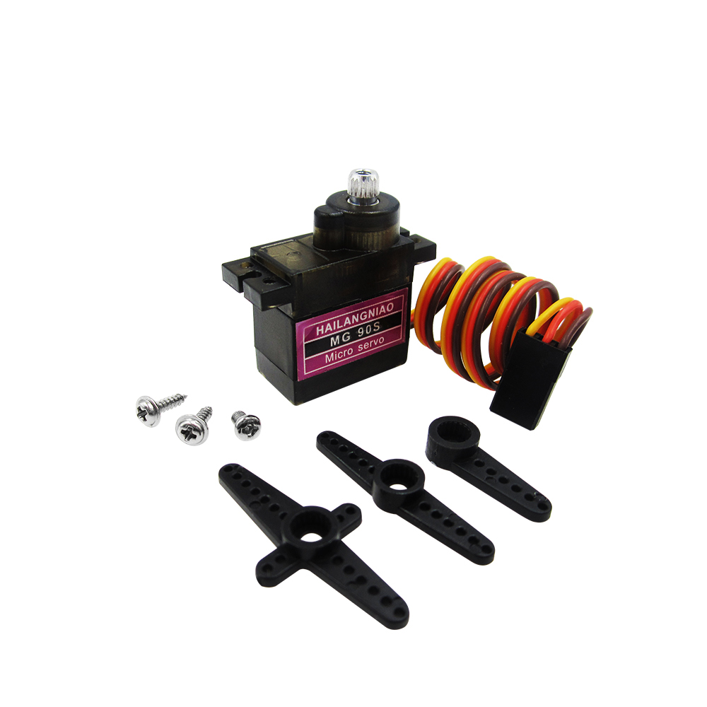1pcs MG90S Metal gear Digital 9g Servo For Rc Helicopter plane boat car MG90 9G IN STOCK 1pcs metal digital servo henge md922 md 922 450 speed for rc helicopter plane boat car wholesale
