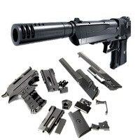 Desert Eagle Blocks Pistol Toy Gun With Silencer Chiledren Cosplay Toys