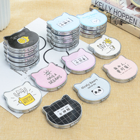 Cute Cat Makeup Mirror Portable Birthday Gift Cosmetic Compact Mirrors Foldable Makeup Mirror For Personalized