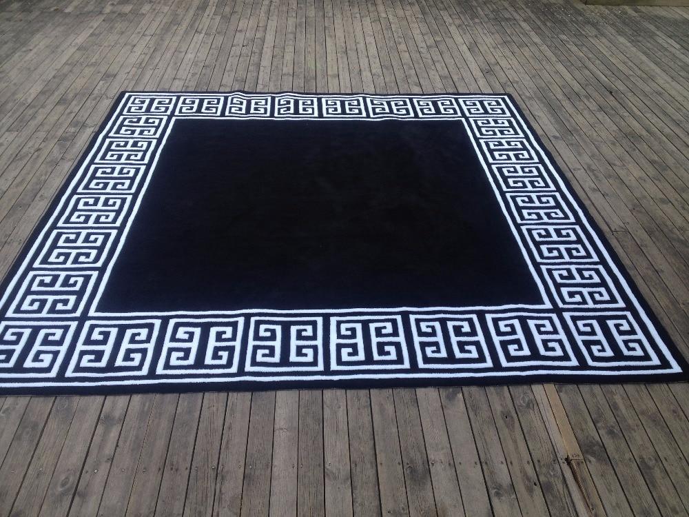 Buy black with white carpet tapis rugs - Tapis salon black friday ...