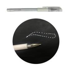 1 개/몫 문신 마커 펜 영구 메이크업 용품 도구 화이트 외과 피부 마커 펜 눈썹 Microbldaing 액세서리