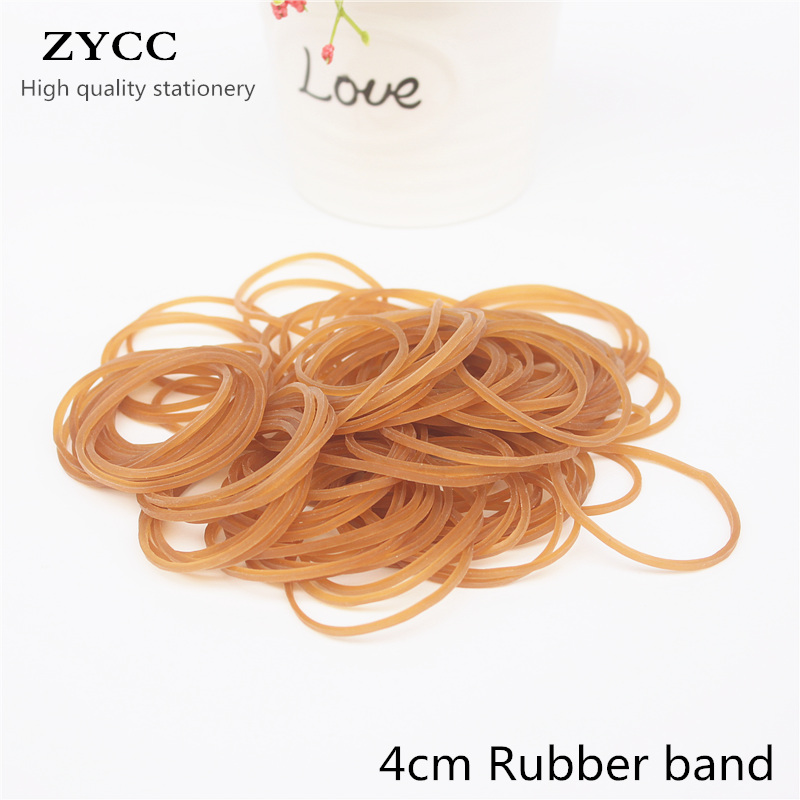 200PCS/bag 4CM High Quality Stationery Holder Thermostability Rubber Bands Strong Elastic Hair Band Loop Office Supplies(China)