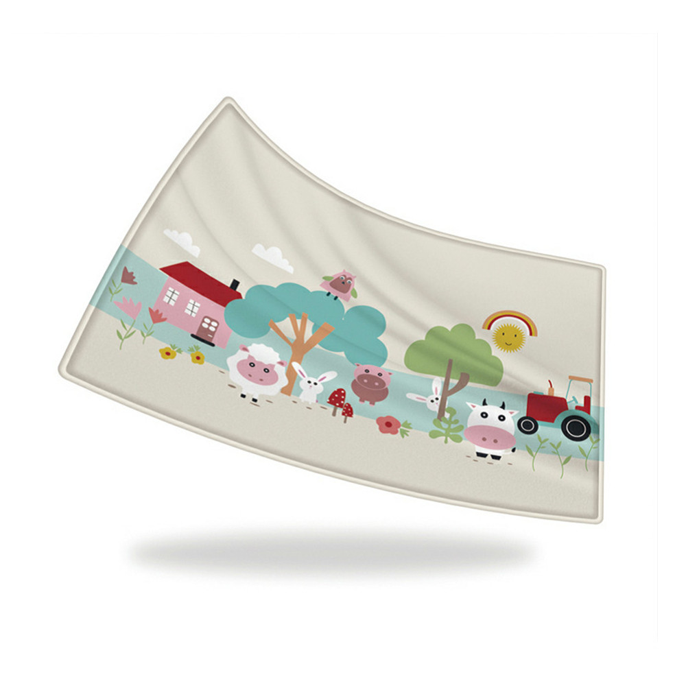 180*120*1 cm motif de dessin animé de mouton de ferme tapis de jeu de bébé enfant ramper couverture imperméable tapis nordique enfants chambre décor à la maison